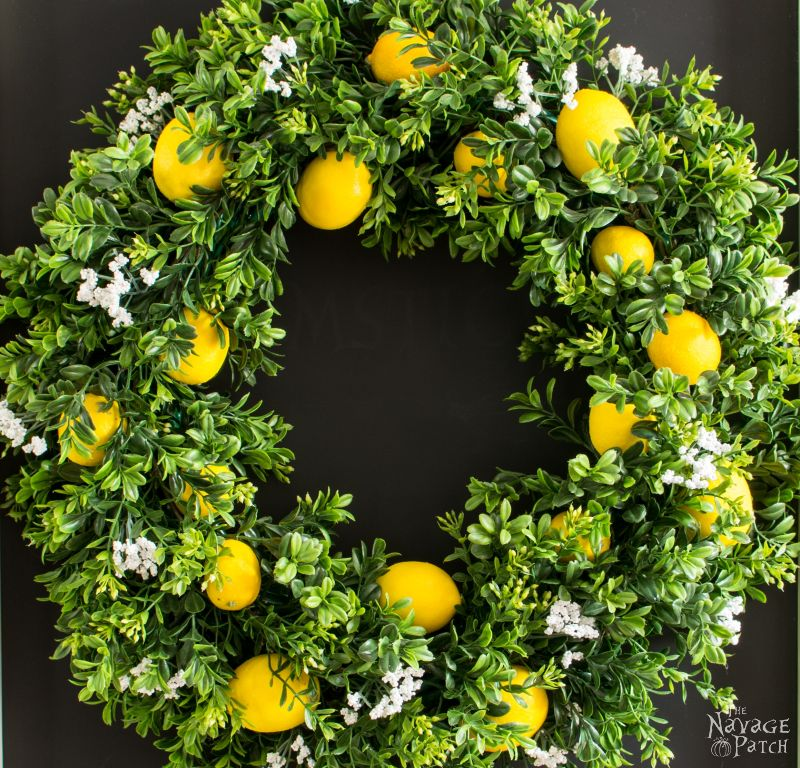 Diy Summer Lemon Wreath The Navage Patch