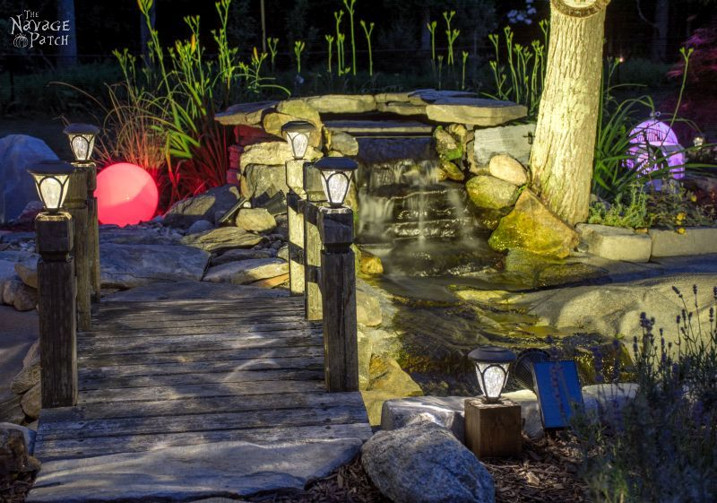 DiY Cedar Cube Landscape Lights   DIY solar outdoor lights   How to clean a solar panel   How to make non-working the solar lights work again   Simple woodworking and garden crafts   Garden and backyard decor   Budget garden and backyard ligthing   TheNavagePatch.com