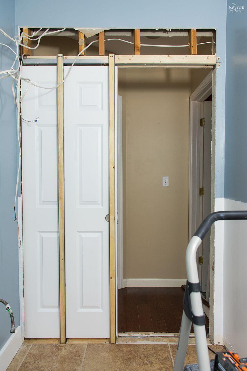 Guest Bathroom Renovation Pocket Door Installation The Navage Patch