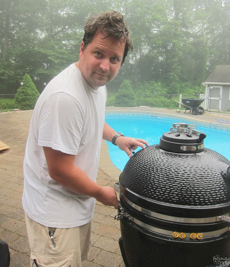 Greg loves his kamado grill - TheNavagePatch.com