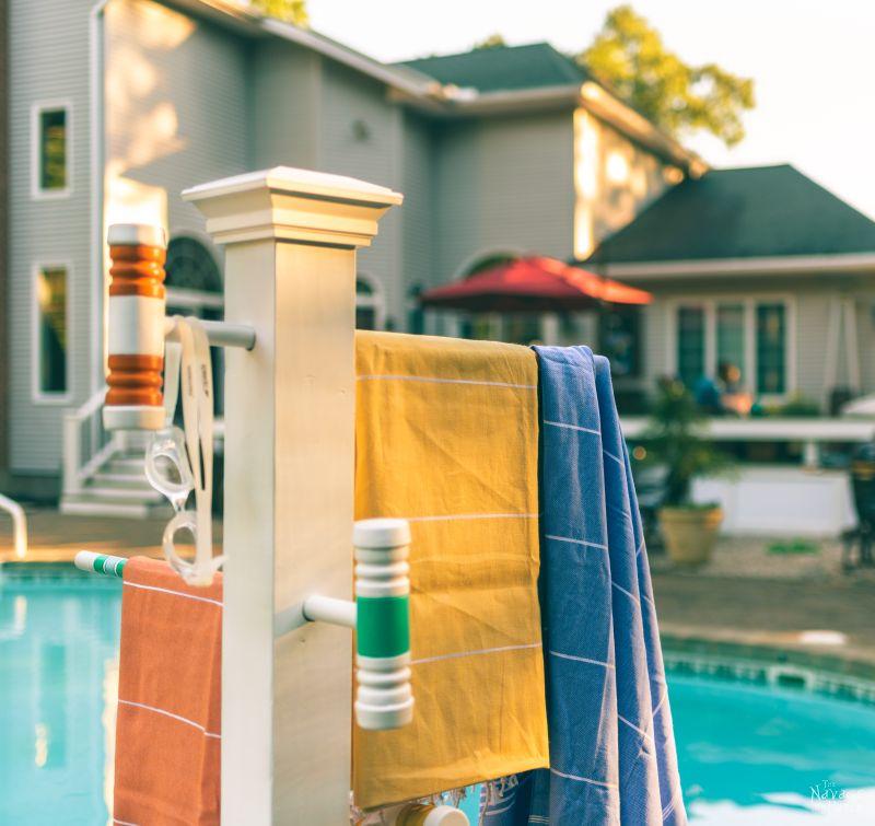 croquet mallet pool towel rack the