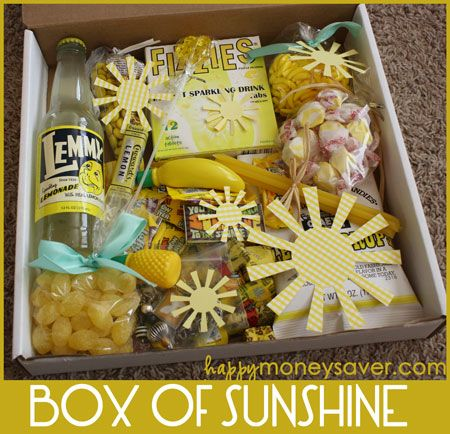 Box of Sunshine from: http://happymoneysaver.com/send-a-box-of-sunshine-to-brighten-someones-day/