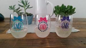 Personally Anchored Monogrammed Glasses