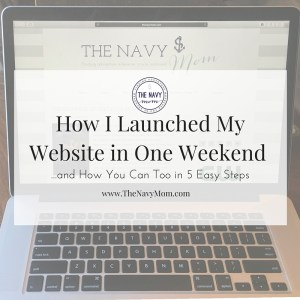 How I Launched My Website in One Weekend
