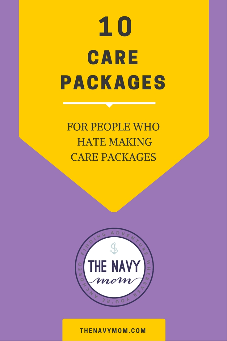 10 Care Packages for People who Hate Making Care Packages http://TheNavyMom.com