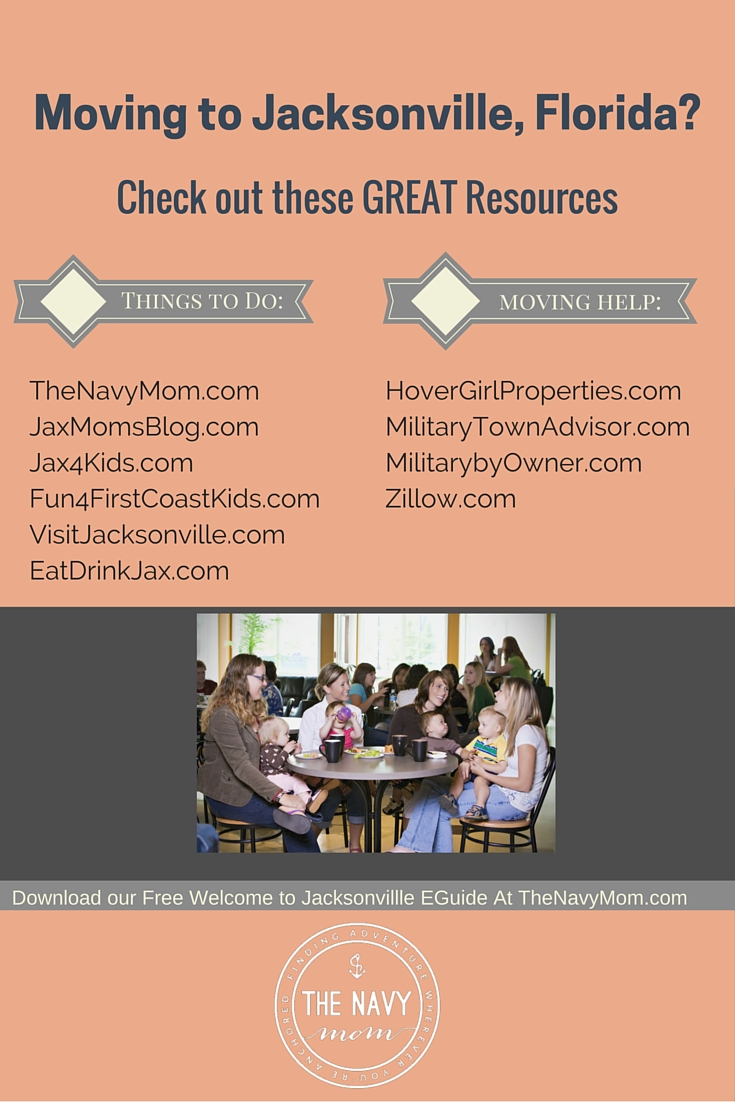 Moving to Jacksonville, Florida? Check out these great resources from http://www.TheNavyMom.com