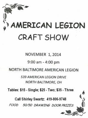 Legion Aux Craft Show 2014 flyer