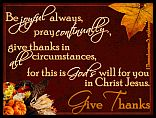 Give Thanks Always: a devotion by Ann Elaine Broughton