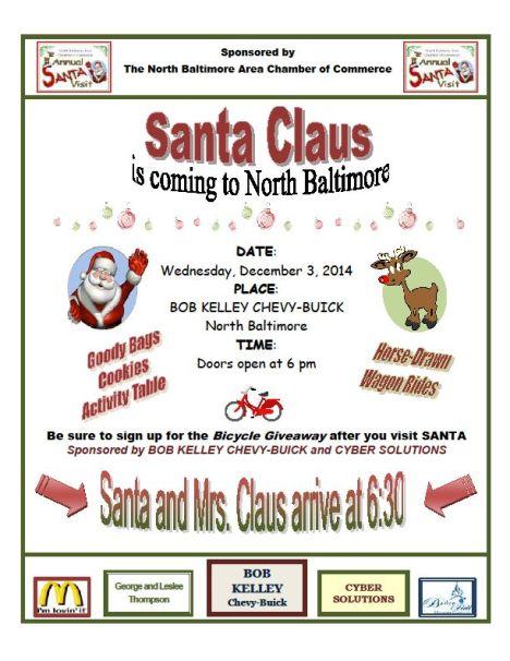 Santa Visit 2014 flyer