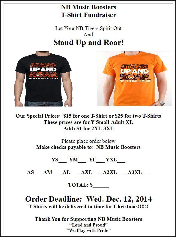 nb stand up roar t shirt fundraiser. Black Bedroom Furniture Sets. Home Design Ideas