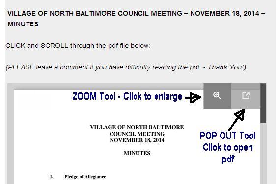 NB Village Council Meeting Minutes – Nov. 18