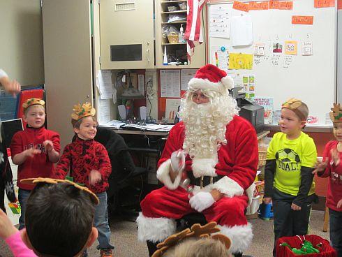 Santa visits Powell Elementary