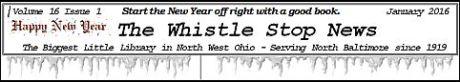 Whistle Stop News NB Library Jan newsletter masthead
