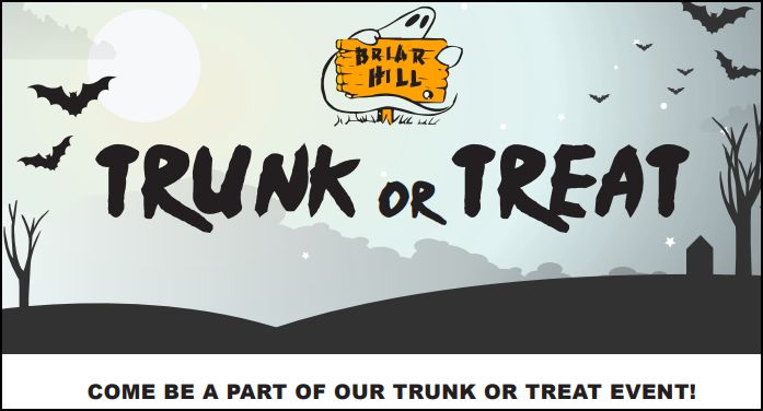 Trunk or Treat Coming to Briar Hill Health Campus