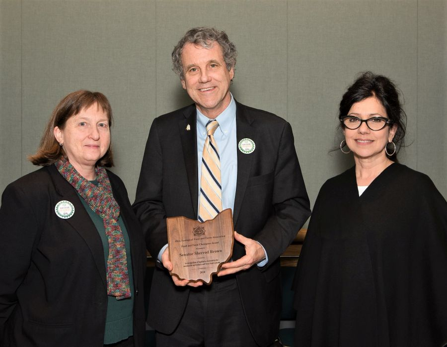 Brown Honored - Food and Farm Champion Award