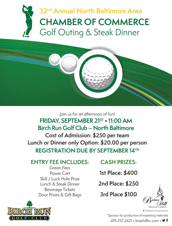 DEADLINE TODAY NB Chamber Golf Outing & Steak Dinner