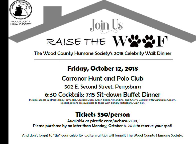"Raise the ""Woof"" Fundraiser Planned"