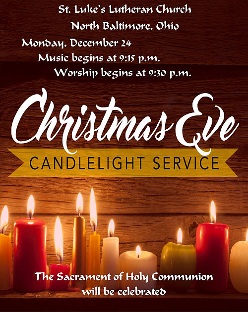 Lutheran Christmas Eve Services Announced