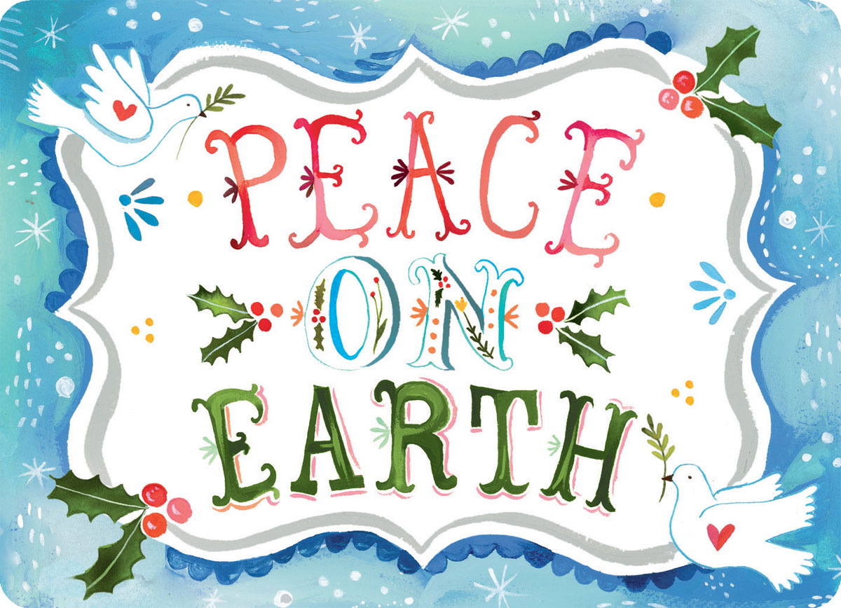 Merry Christmas Peace On Earth The Neat Nook
