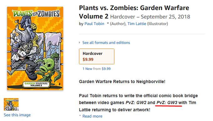 Plants vs. Zombies: Garden Warfare 3 spotted on Amazon