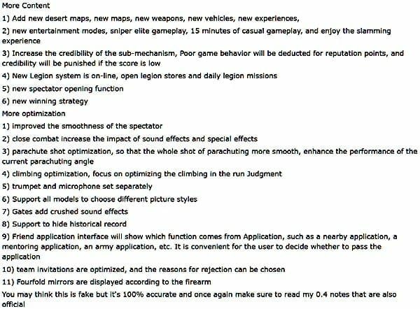 PUBG Mobile 0.5.1 Patch Notes