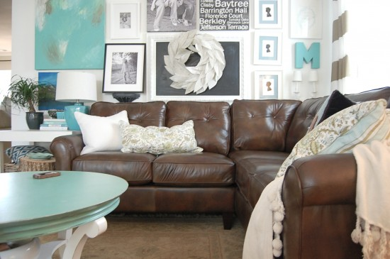 ... Happy And Causal Aesthetic Of This Room, Created By That Art Wall And  The Eclectic Mix Of Pillows. Youu0027d Hardly Even Notice That Thereu0027s A Big  Sectional ...