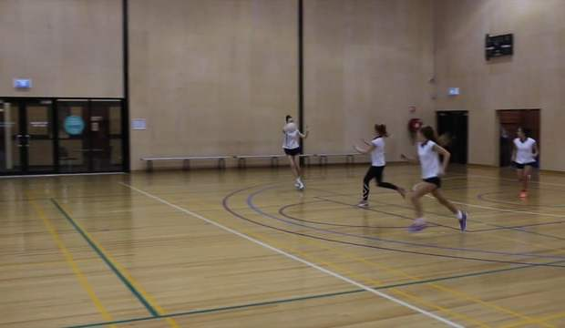 Transition drill netball Micaela Wilson