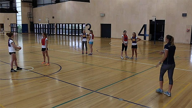Netball coaching centre passes session drills skills
