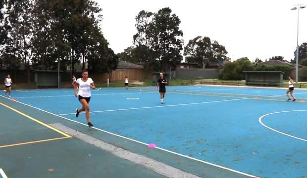 Netball interval sprints fitness drill coaching