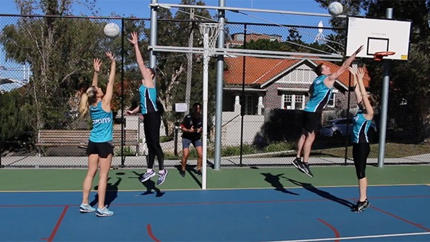 Jump over shot defence netball coaching