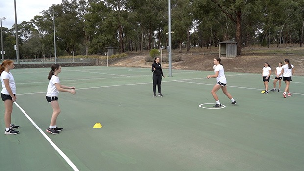 The landing pad netball drill video for beginners and juniors video