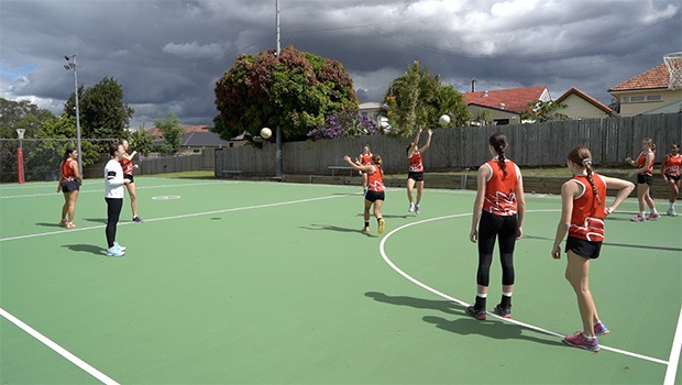 Caitlyn Nevins netball drill four corners three ways