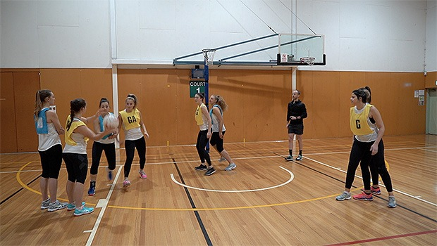 NETBALL PENALTY GOAL CIRCLE FRONT BACK