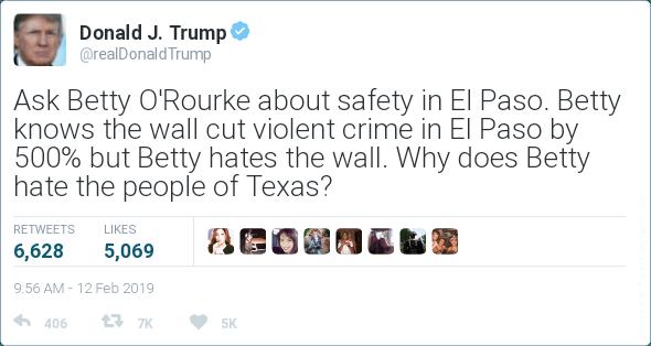 Trump crushes O'Rourke.