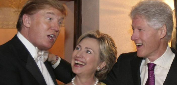 Trump, Clintons take down America