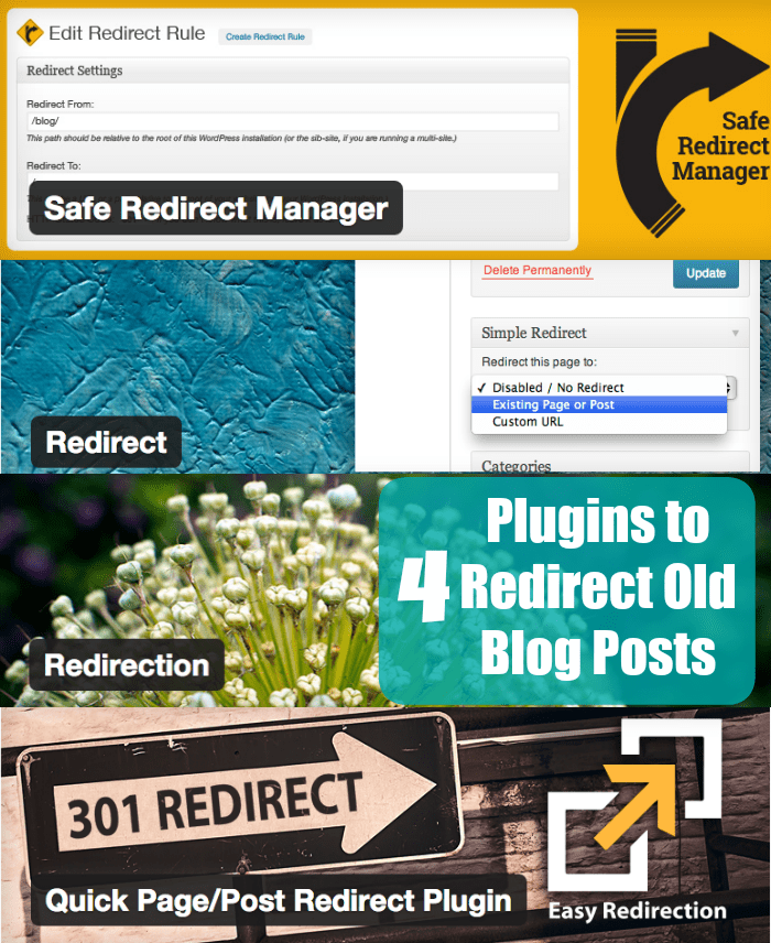 Redirect Old Blog Posts
