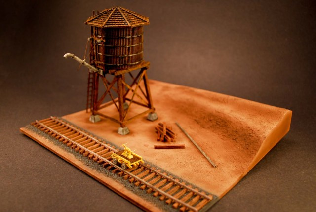 HO Scale Train Water Tower Diorama – The Neverending Projects List