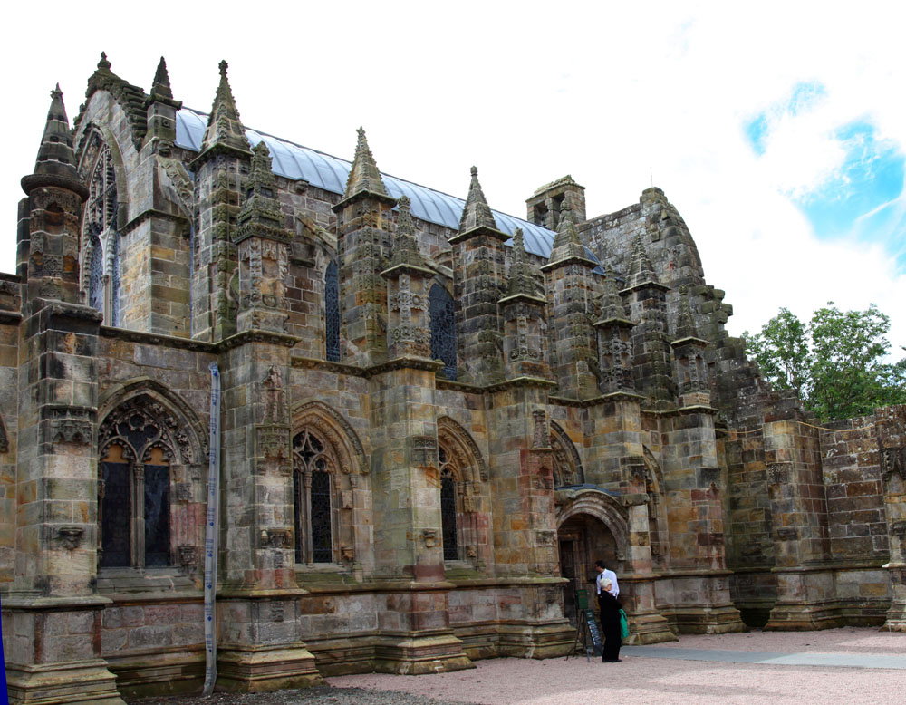 Rosslyn Chapel (my dad's image and my editing)