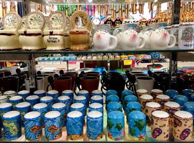 Shopping at the Sponge Docks, Tarpon Springs, Florida