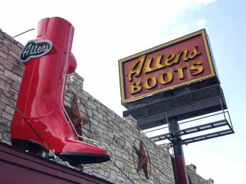 Allens Boots, South Congress, Austin Texas