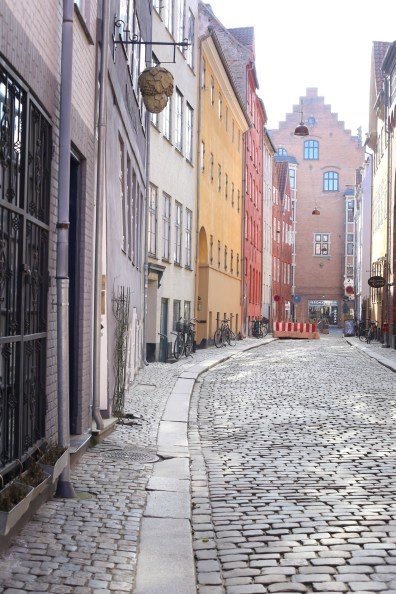 A walk on one of Copenhagen's loveliest streets in the center city: colors and bicycles, and best of all no cars. Perfect for snapping pictures, especially of toddlers and kids during your visit.