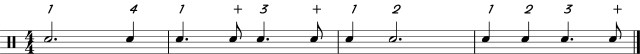 Dotted half and quarter note reading
