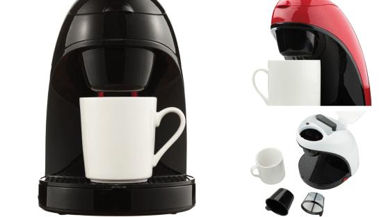 Single-Serve Coffee Maker with Mug