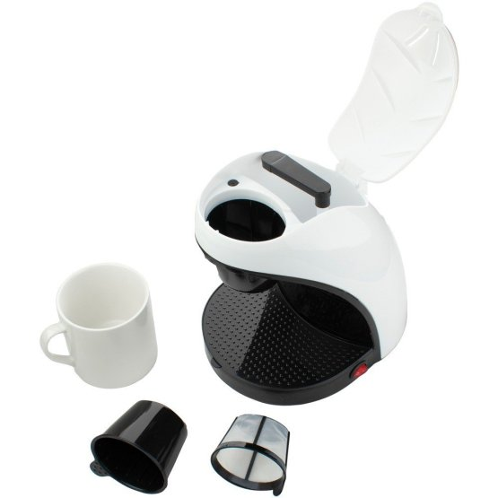 Single-Serve Coffee Maker with Mug White