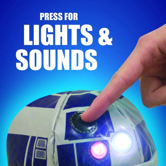 Novelty Kids Lunch Box with Lights and Sound, Star Wars® R2-D2® TNF