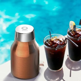 Asobu Coldbrew Portable Cold Brew Coffee Maker With a Vacuum Insulated 40oz Stainless Steel 18/8 Carafe