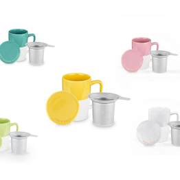 Delia Tea Mug & Infuser by Pinky Up