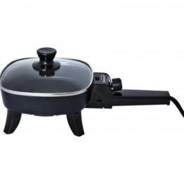 """Nonstick Electric Skillet with Glass Lid (600W; 6"""")"""