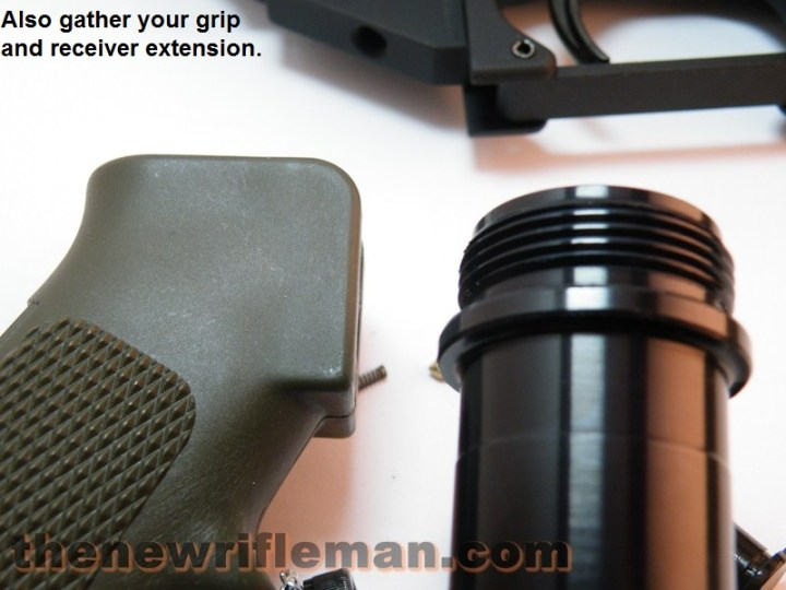 grip and receiver extension