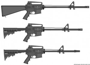 Rifle, Mid-length, Carbine, AR15